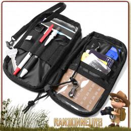 Pochette tactique Rothco et aussi porte-feuille, est idéale pour concevoir son propre kit EDC ou kit de survie