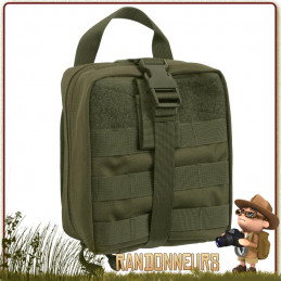 Pochette kit survie Tactique compatible Molle Breakaway Vert Olive armée Rothco france