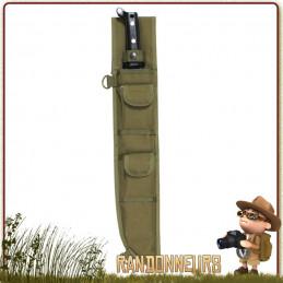 étui en Polyester 600D haute résistance, avec système d'attache MOLLE, permet de ranger une machette bushcraft