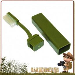 Brosse à dents de voyage avec étui de rangement qui est en finalité son propre manche randonnée légère