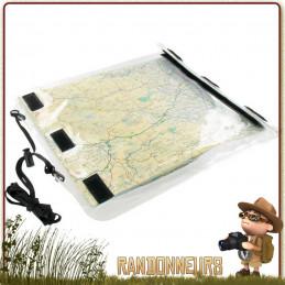 Porte carte randonnée étanche ROAMER Highlander, avec grand velcro de fermeture latérale pour l'étanchéité