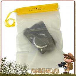 Pochette PVC Etanche medium avec cordelette tour de cou Highlander 25 x 17 cm. Fermeture par velcro