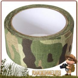 Ruban Adhésif en tissu auto collant, couleur Camouflage Multicam, 5 cm x 10 mètres. Réparer et construire tout un équipement