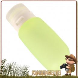mini bouteille en plastique silicone souple, avec bec verseur anti-goutte Travel GoToob 53 ml Humangear