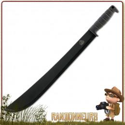 Machette bushcraft lame acier 420 de 44 cm Puma Tec avec manche gomme anti dérapant