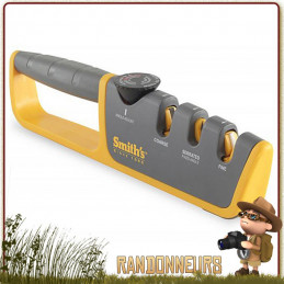 Affuteur Pull-Thru Manuel Ajustable SMITH's couteaux de survie ou bushcraft grâce à ses angles de lames d'affûtages réglables