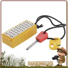 Tinderbox Smith's kit allume feu complet boîte à amadou (copeaux de bois), une râpe à bois, une pierre à feu