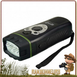 Lampe Torche Radio Portable WOLF Power Plus