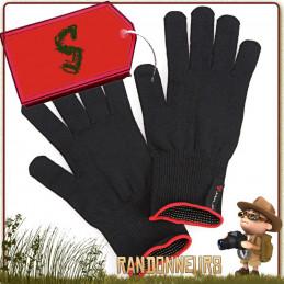 Gants thermiques Finger Touch Arva en tissu merino compatible avec écrans tactiles, chaud et léger de trekking