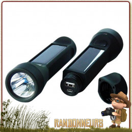 Lampe Torche SALAMANDER Power Plus légère et compacte avec chargeur solaire pour randonner