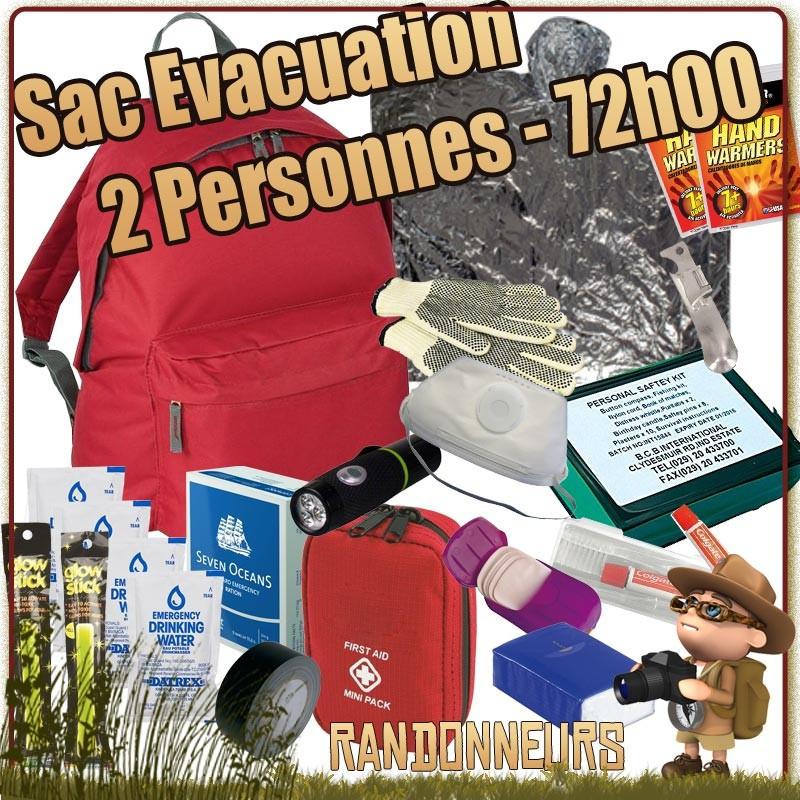 meilleur sac evacuation deux personnes kit de survie complet