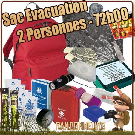 Sac Evacuation 72h00 pour 2 Personnes