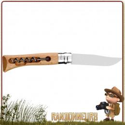 Couteau Opinel 10 VRI avec Tire Bouchon le compagnon du randonneur malin