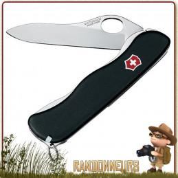 """Couteau Suisse Victorinox SENTINEL BLACK """"one hand"""" avec 4 fonctions  militaire"""