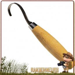 Couteau Mora 164S à sculpter lame crochet idéal pour creuser des formes arrondies dans le bois bushcraft