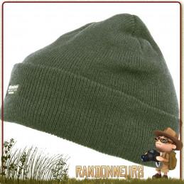Bonnet type Commando de couleur vert, Tissu 100% acrylique Thinsulate 3M, taille unique randonnée chasse