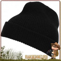 Bonnet Commando Laine Noir Fostex pour la randonnée bushcraft bien au chaud