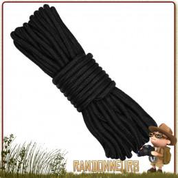 Cordage drisse armee Polyester 7mm de 15 mètres NOIRE