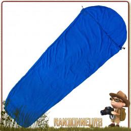 Sac à Viande Polaire Momie Basic Nature doux et léger pour augmenter temperature confort sac de couchage leger