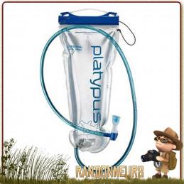 poche hydration Big zip sl 2Litres de Platypus avec ouverture de remplissage pleine largeur pour randonner léger