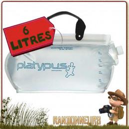 Jerrican souple Platy Water Tank 6 Litres Platypus de trekking