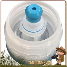 préfiltre steripen 40 microns pour gourde de type Nalgene grande ouverture permet de filtrer l'eau de ses sédiments