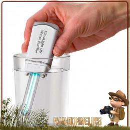 purificateur d'eau potable Steripen UltraLight UV ultra violet Ultra Léger, le Steripen Ultra light sur batterie rechargeable