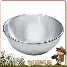 Bol Aluminium 50 cl. Léger, ce bol en aluminium trouvera facilement sa place dans votre matériel de camping