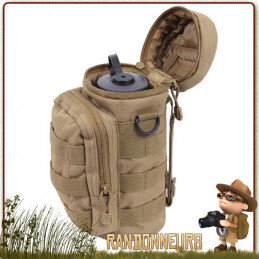 Pochette Molle Tactique pour Gourde Militaire Rothco Coyote