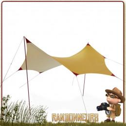 Le RendezVous 120 Wing de MSR est un abri tarp de protection grande taille pour bivouacs légers. Mâts aluminium et haubans