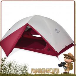 TENTE MSR ZOIC 1 - Tente de randonnée ultra légère pour 1 une personne trois 3 saisons avec large espace de vie