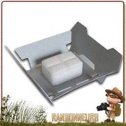 réchaud d'urgence et de secours Esbit ES14G est un réchaud pliable ultra compact à tablette hexamine essence solide