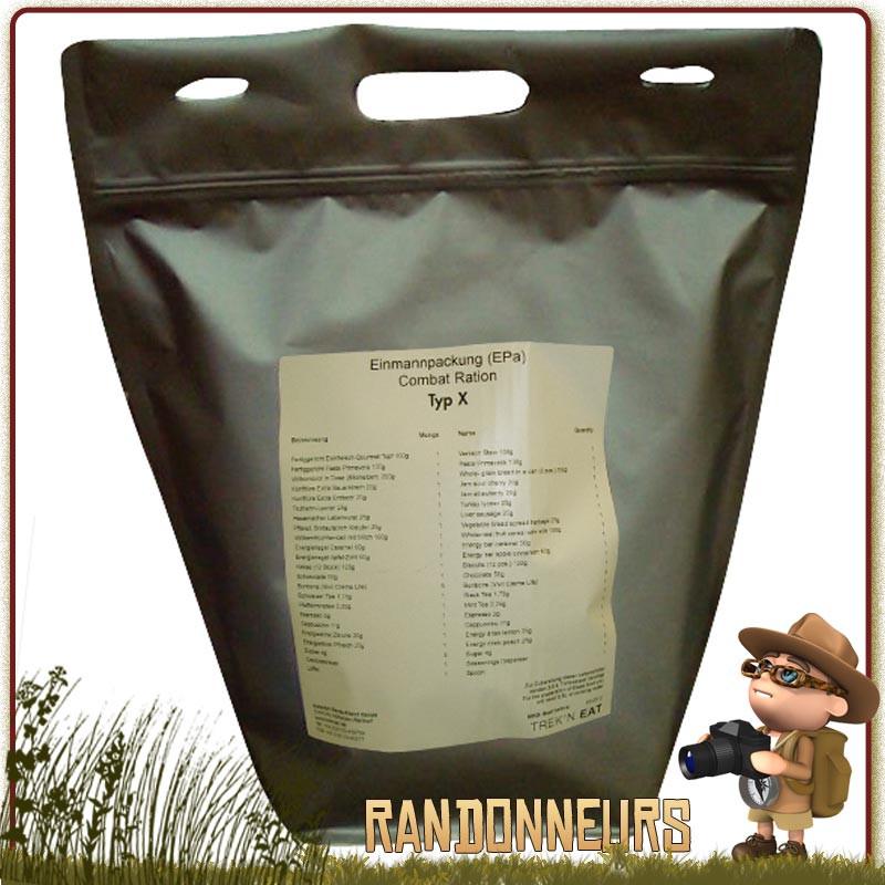 ration de survie militaire Day Ration Pack Tactical Line (Type 1) trek'n eat nourriture pour 24h00 pour une personne