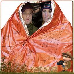 Couverture survie deux personnes SOL Adventure Medical Kits. Couverture de survie isothermique grande taille