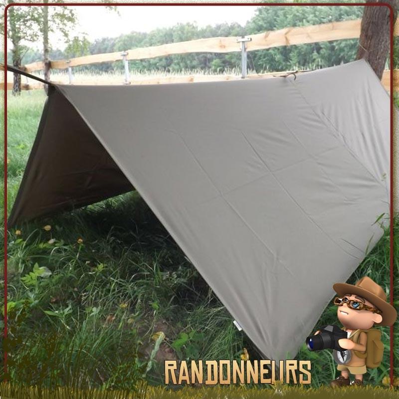 tarp bushcraft militaire étanche bâche polyester ripstop highlander, bâche tarp de bivouac survie léger pas cher
