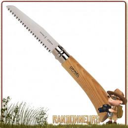 Scie portable manche bois de hêtre Opinel n°12 avec lame acier inox sandvik Virole de blocage de la lame
