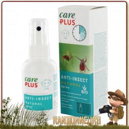 Spray 60 ml Répulsif Anti Moustiques et Tiques CITRIODIOL 30 Care Plus traitement corporel anti moustiques, anti tiques
