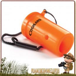 corne de signalisation de survie Coghlans est une sorte de sifflet de survie permettant d'émettre des sons jusqu'à 120 décibels