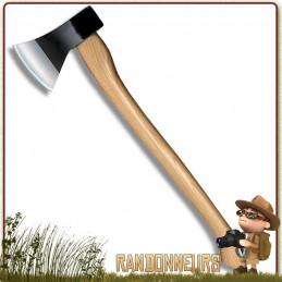 Hache Bushcraft Trail Boss Cold Steel, ultra robuste, manche en bois, longueur totale 69 cm