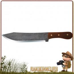 Couteau CONDOR HUDSON BAY lame brute de forge de 21 cm en acier 1075 High Carbon Manche bois de noyer et étui cuir
