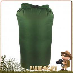 Sac pochette nylon Étanche 8 Litres VERT OLIVE Highlander pour sac à dos militaire