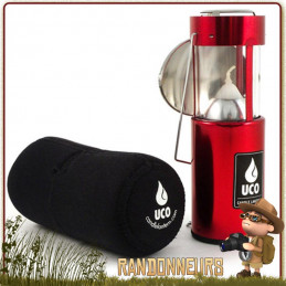 Kit Lanterne Compact Original Deluxe Rouge UCO avec housse néoprène de protection et réflecteur