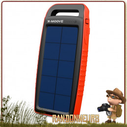 Chargeur Solaire Batterie Solargo Pocket 15000 X-Moove panneau solaire puissant sunpower batterie 15000 mah intégrée