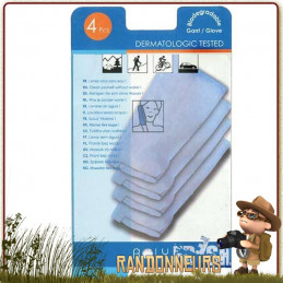 Gants de toilette imprégnés toilette  visage et corporelle sans eau ni savon, d'usage pour la sport, la randonnée, le voyage